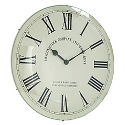 London Clock - Cream dome Roman wall clock