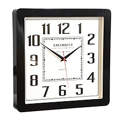 London Clock - Black 'Retro' wall clock