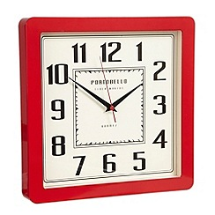 London Clock - Red 'Retro' wall clock