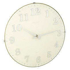 London Clock - White domed wall clock