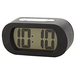 Acctim - Black illuminating soft alarm clock