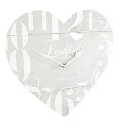 London Clock - Pale blue heart shaped wall clock