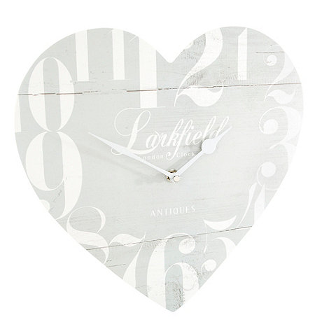 London Clock - Pale blue heart shaped wall clock