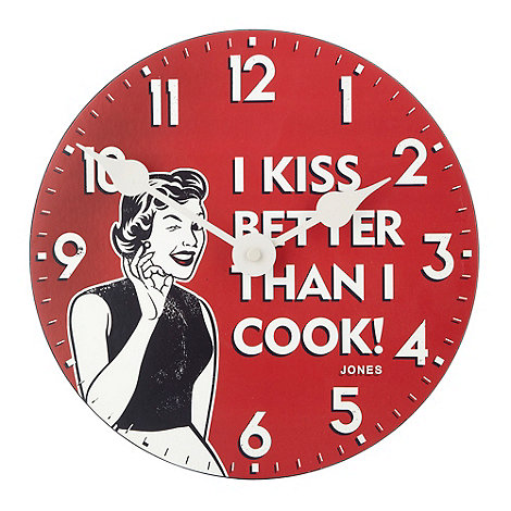 Jones - Red kiss kitchen clock