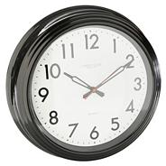 Black large 'Station Clock' wall clock