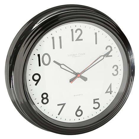 London Clock - Black large +Station Clock+ wall clock