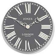 Grey 'Suffolk' wall clock