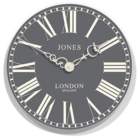 Jones - Grey +Suffolk+ wall clock