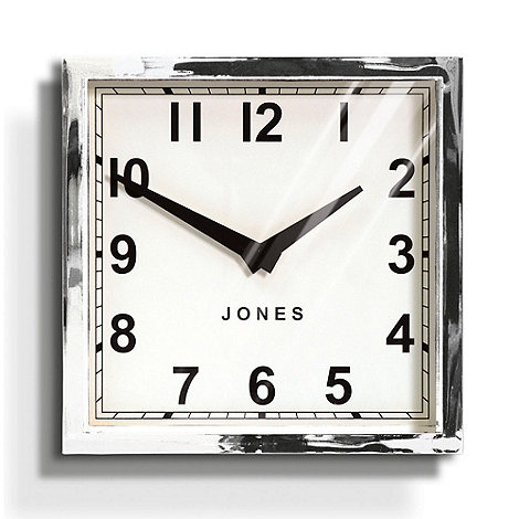 Jones - Silver +Box+ clock