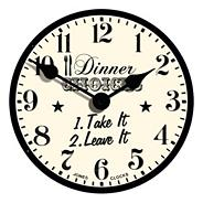 Ivory 'Dinner Choices' clock