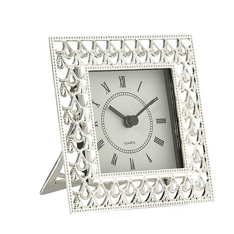 Debenhams - Silver cut out diamant  mantle clock