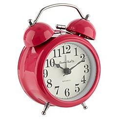 London Clock - Pink twin bell alarm clock