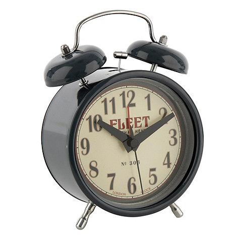 Debenhams - Grey twin bell alarm clock