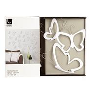 White 'Monarchy' wall decor butterflies