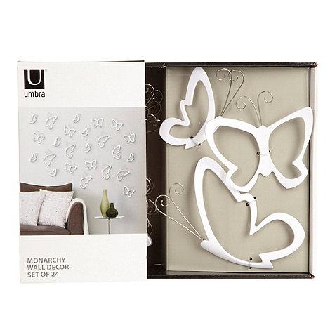 Umbra - White +Monarchy+ wall decor butterflies