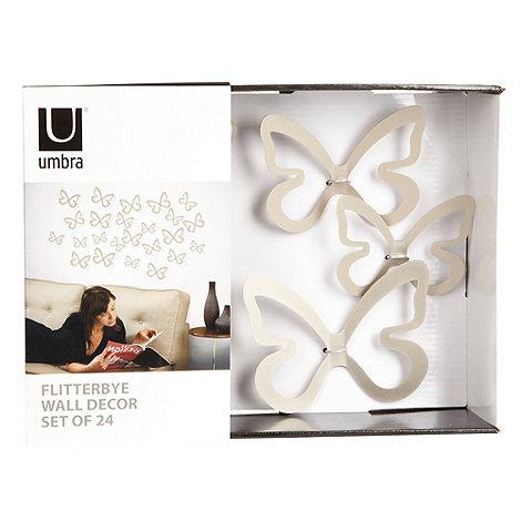 Umbra - Silver +Flitterbye+ wall decor butterflies