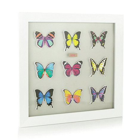 Butterfly Home by Matthew Williamson - White framed butterfly art