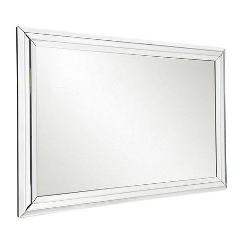 Star by Julien Macdonald - Silver triple bevelled mirror