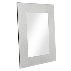 Star by Julien MacDonald - Silver glitter frame mirror
