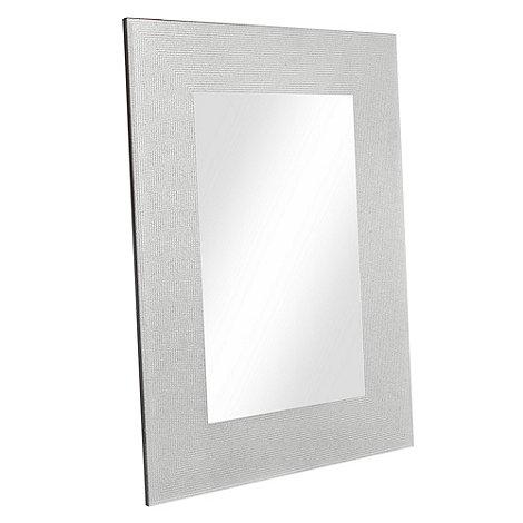 Star by Julien Macdonald - Silver glitter frame mirror