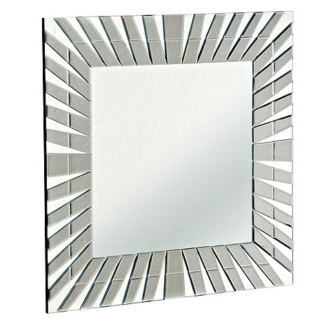 Star by Julien Macdonald - Grey square layered mirror