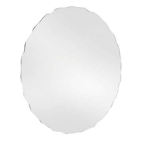 Debenhams - Silver scalloped round mirror