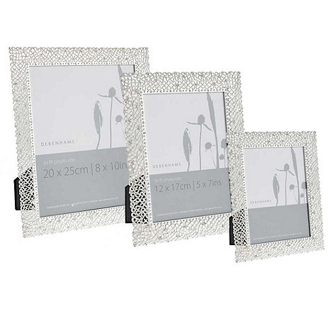 Debenhams - Silver delicate diamante photo frame