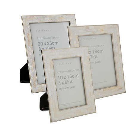 Debenhams - Ivory mother of pearl photo frames