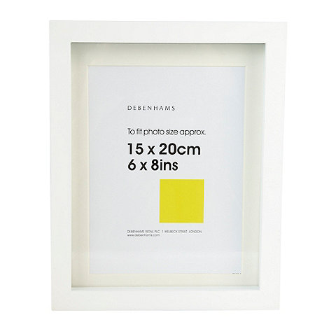 Home Collection Basics - White 15 x 20cm block photo frame