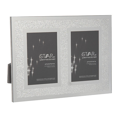 Star by Julien Macdonald - Silver two aperture 4 x 6 inch photo frame