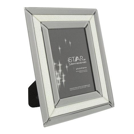 Star by Julien Macdonald - Silver bevelled glitter photo frame