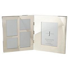 J by Jasper Conran - Silver hinged multi photo frame