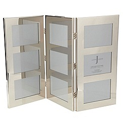 J by Jasper Conran - Silver hinged triple photo frame