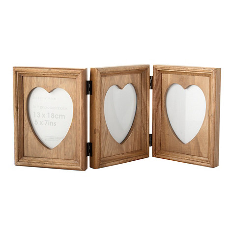 Debenhams - Wood folding triple photo frame