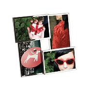 Silver 'Flo' multi photo frame