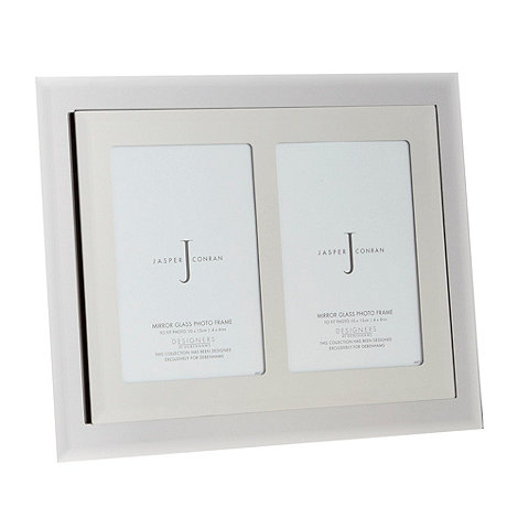 J by Jasper Conran - Grey mirrored double photo frame