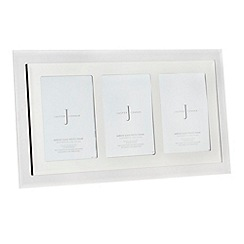 J by Jasper Conran - Grey mirrored glass triple photo frame