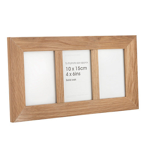 Home Collection - Light brown triple wooden photo frame