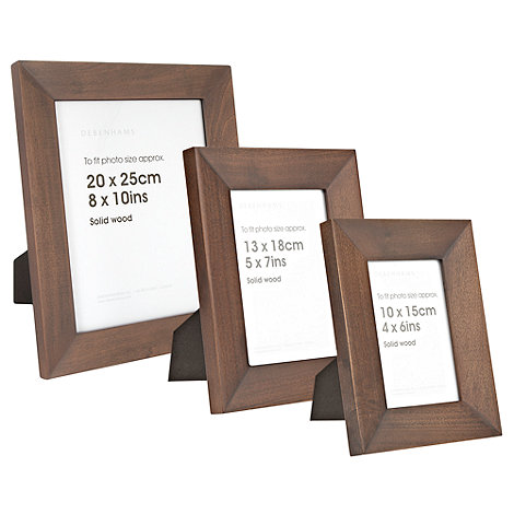 Debenhams - Dark bevel wood photo frame