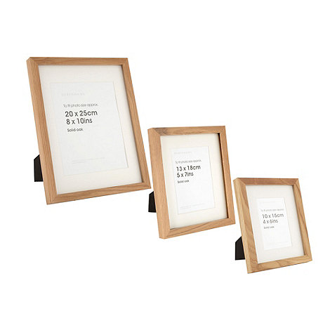 Debenhams - Brown oak wood photo frame