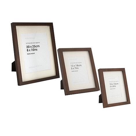Debenhams - Dark brown wooden photo frame