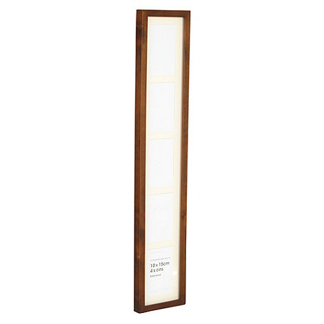 Debenhams - Dark wood five window photo frame