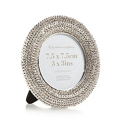 Debenhams - Silver textured round photo frame