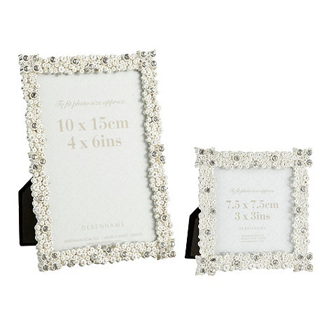 Debenhams - Metal diamante stud photo frames