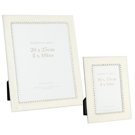Home Collection - Ivory enamel diamante stud frames