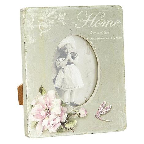 Heaven Sends - Green +Home+ floral photo frame