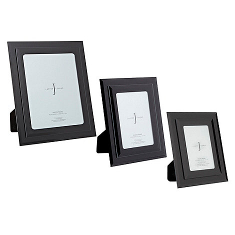 J by Jasper Conran - Black two-tiered mirror glass frames