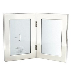 J by Jasper Conran - Silver hinged double 4 inch6 inch frame