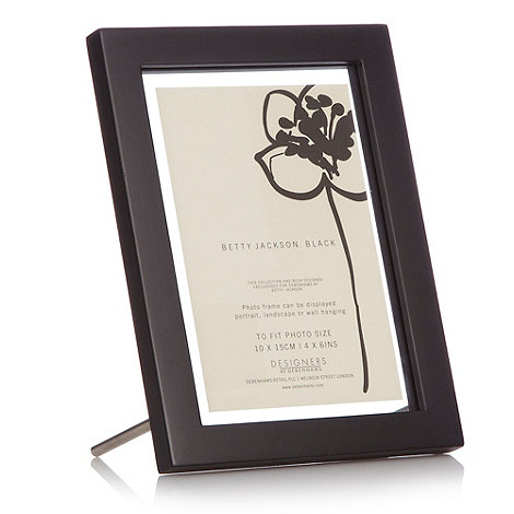 Betty Jackson.Black - Black floating photo frame