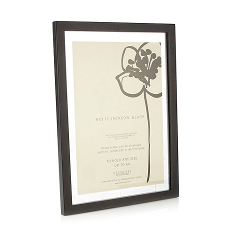 Betty Jackson.Black - Black floating certificate frame